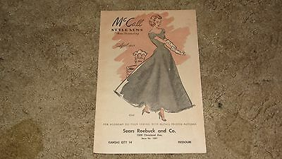 VINTAGE McCALL STYLE NEWS 1948 FOR DRESS MAKING SEARS ROEBUCK LN