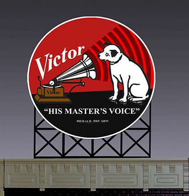 RCA Victor Animated Billboard Sign for N HO Scale Miller 8072