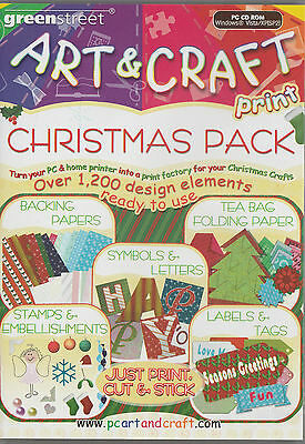 The Christmas Create & Print Pack contains 1200+ designs to Size Change Print