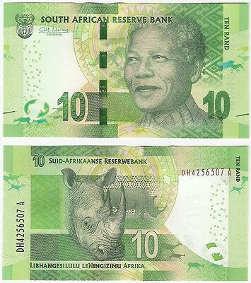 South Africa 10 Rand 2014 P-138a UNC Banknote - Nelson Mandela - Rhino