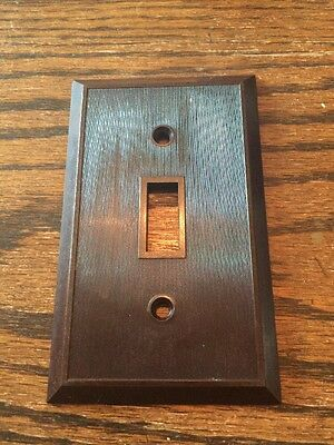 Vintage Lines Lined Brown Switch Plate Cover Deco No. 17 • CAD $5.09