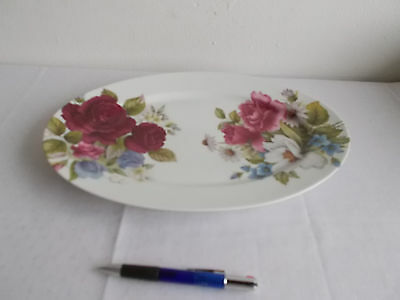 Bratenplatte Limoges Victoria Bill Goldsmith Floral 1986 Plate 25x36,5 TOP 2