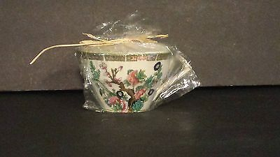 Vintage Myott Indian Tree Staffordshire Tea Cup with Candle In Original Package