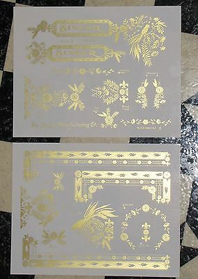 Waterslide Replacement Decals for an Antique Singer Sewing Machine, Model 127