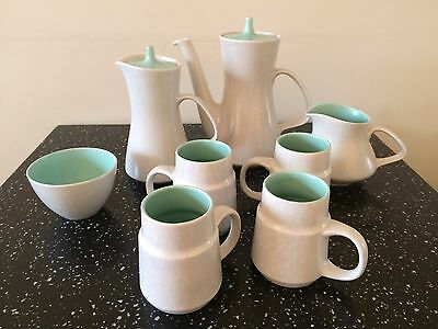 Vintage / Retro 1960's Poole Coffee Set, Seagull & Ice Green.