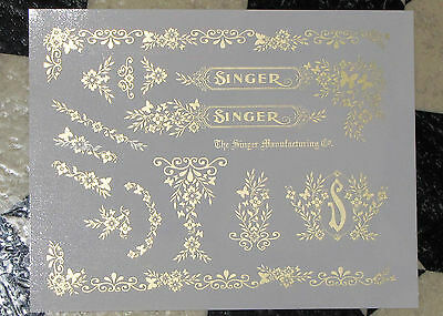Waterslide Replacement Decals for an Antique Singer Sewing Machine, Model 99