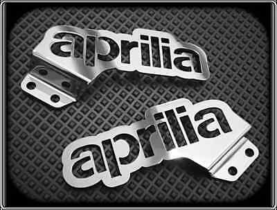 Heel Plates for APRILIA RS4 125cc, 2011 to 2015 RS (Polished Footpeg Guards)