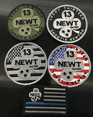 NEW LAPD Los Angeles Police Shootin Newton Lucky 13 Patches