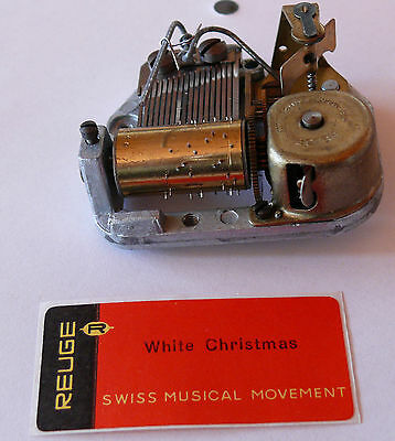 """REUGE Spieluhr Musical movement """"White Christmas""""  (N1245)"""