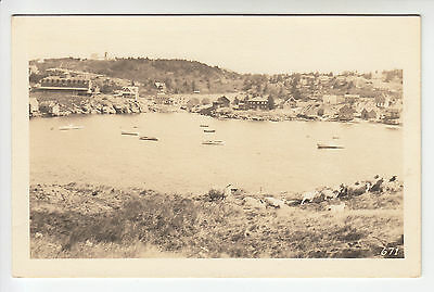 U.S.A.: The Village, Monhegan, Maine - From Sea - Lorimer & Brackett RP PC (622)