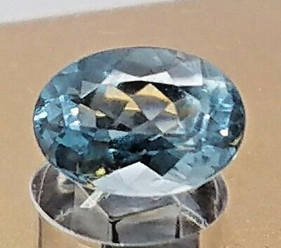 2.27ct Stunning Crystal Clear NATURAL Light Blue AQUAMARINE Oval Gem Stone