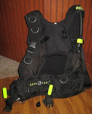 Aqualung Malibu RDS BC Weight Integrated Rear Inflate Small S Scuba Dive BCD