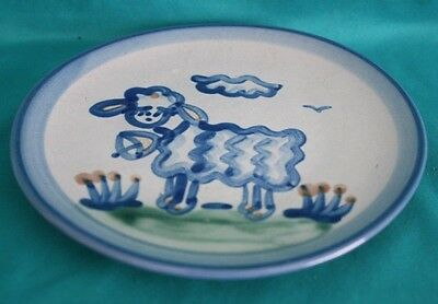 "M.A. Hadley 6"" Plate Signed With Hand Painted Lamb No Chips Or Cracks"