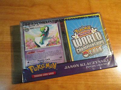 COMPLETE Pokemon PSYCHIC LOCK World Championship 2008 Card DECK Jason Klaczynski