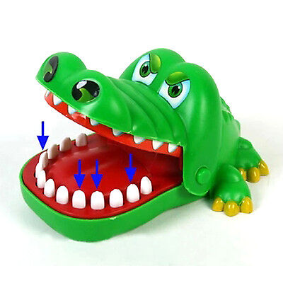 HT Cute Large Crocodile Mouth Dentist Bite Finger Game Funny Toy Kids Children