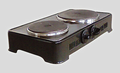 Electric Twin Dual Double Hot Plate Table Hotplate Portable 2050W New