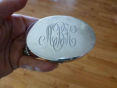 Art Deco MARY DUNHILL Sterling Silver Oval Powder Compact MKB