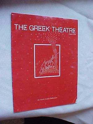 VINTAGE1978 GREEK THEATRE PROGRAM Manilow Lou Rawls Chicago Patti LaBelle War