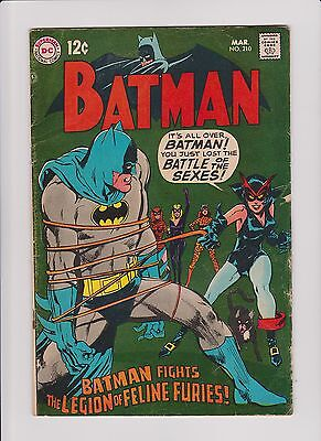 Batman # 210 (1969) Catwoman cover/story Neal Adams cover Silver Age DC