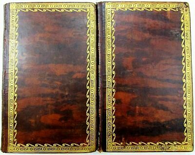 Langhorne Chippendale 1804 Leather books 4 engraved plates gorgeous decorative