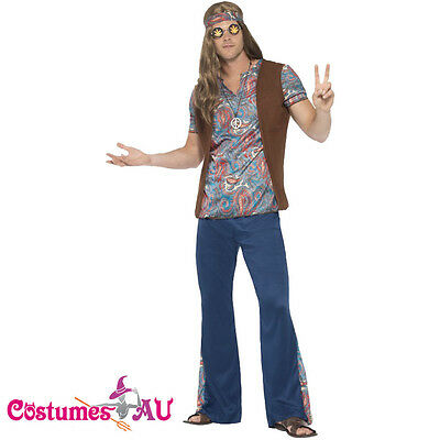 Mens Orion The Hippie Costume 1960s 60s 70s 1970s Groovy Hippy Funny Outfits