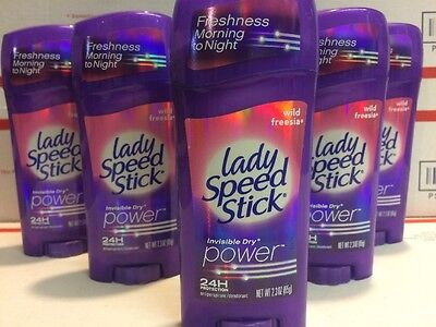 6 x Lady Speed Stick Wild Freesia Invisible Dry Antiperspirant Deodorant 2.3 oz