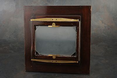 :Ansco 8x10 to 5x7 Wooden Reducing Back w Ground Glass