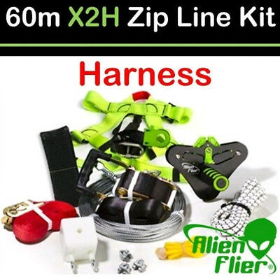 Alien Flier X2 Zip Line With Harness 60m