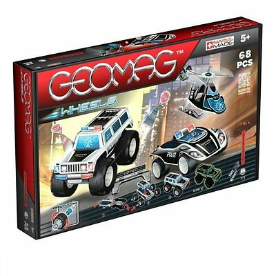 Geomag Glow in the Dark Classic Wheels 68PCs Magnetic Construction Made In Swiss
