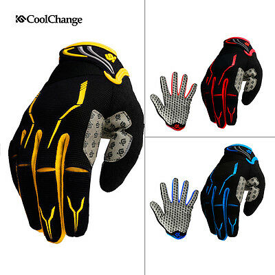 CoolChange Full Finger Racing Cycling Gloves Bicycle MTB Bike Touchscreen Gloves