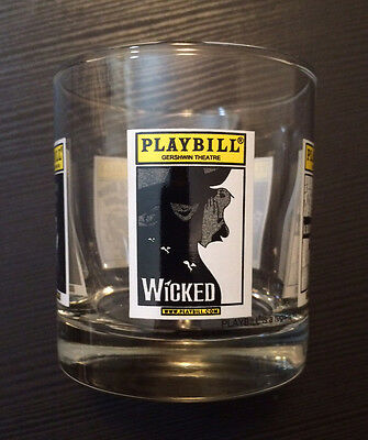Extremely RARE Playbill Broadway Theatre souvenir glass with WICKED + 5 more