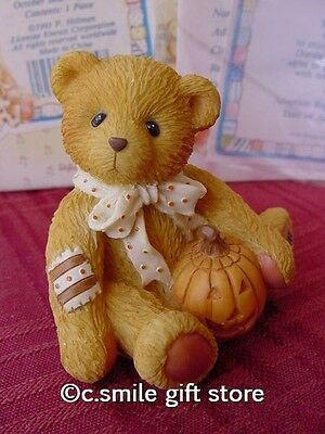 Cherished Teddies Halloween *OSCAR* Enesco 914843 MIB w/FREE BUTTON RARE!