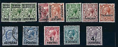 Morocco Agencies various Mint and Used FVF Sound! Cat $25.75