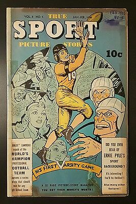 True Sport Picture Stories #Vol. 3#5 (Jan-Feb 1946, Street and Smith) - GD-