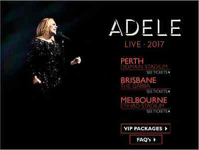 Adele Live 2017 ! C Reserve FLOOR ROW A Tickets ! Brisbane The Gabba 4th March !