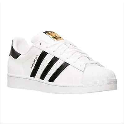 New Mens Superstar C77124 Trainers Skate Sports Shoes White+Black Size All Size