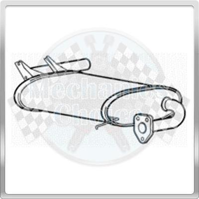 Rear Exhaust Silencer Back Box for Mitsubishi Outlander 2.4 (01/04-06/05)