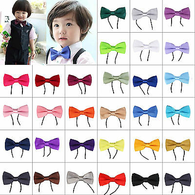 Men Boys Kids Children Pre Tied Satin Wedding Party Bow Ties Bowties Accessories