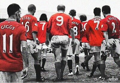 Manchester United 'Legends' Wall Canvas A3