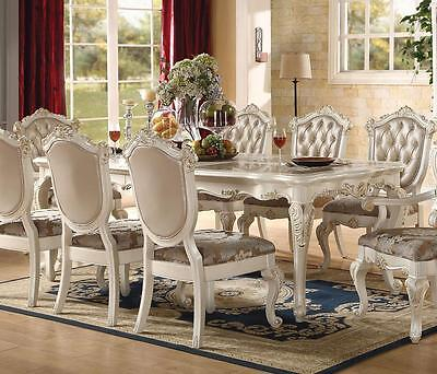 Acme Chantelle 63540 Formal Marble Top Pearl White Dining Table