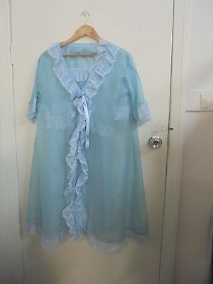 Vintage 60's 3 pce Negligee/night gown, dressing gown & bed coat set