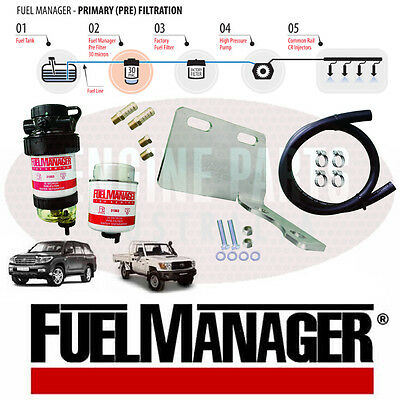 Fuel Manager Diesel Pre Filter Water Seperator 70 200 Series Toyota Landcruiser