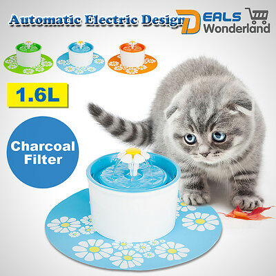 Automatic Electric 1.6 L Pet Water Fountain Dog/Cat Drinking Bowl With  Corner