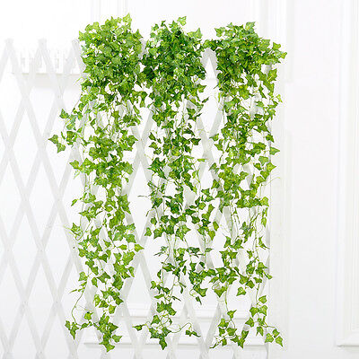 2.4m artificiale edera Vine foglia falso Sweet Potato fogliame pianta Home Decor