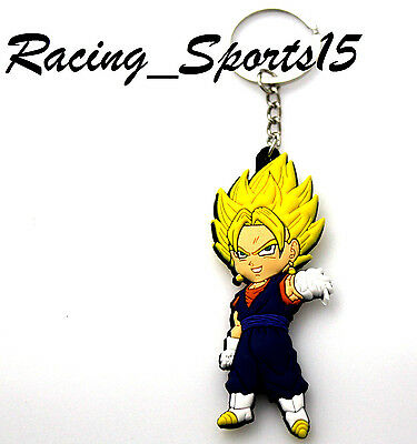 1PCS Dragon Ball Z Figure Keychain PVC Vegito Double sided Printed New