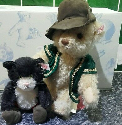 """Steiff Limited Edition """"Puss in boots and his cat"""" Teddy Bear - White Tag 452"""