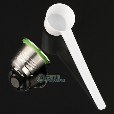 Stainless Steel Compatible for Nespresso Machine Reusable Refillable Capsule HOT