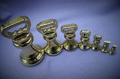 Victorian Solid Brass Set Of Bell Weights - Sheffield - Vr37 - Avery - Rare Set