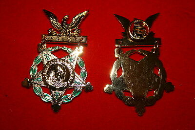 U.s. Us Full Size Copy Medal Honor Of Honour Moh Pin Army Valor Pin Only