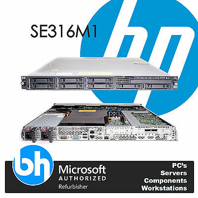 HP ProLiant 1U SE316M1 Twin Xeon Quad Core E5506 24GB DDR3 RAM P410 Raid Server